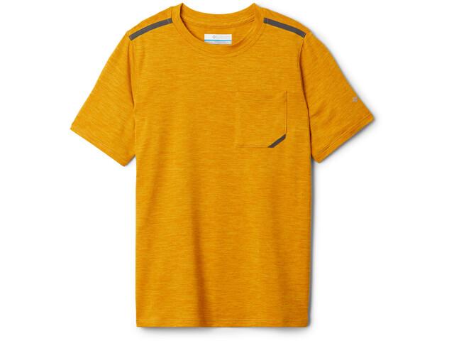 Columbia Tech Trek Camiseta Manga Corta Niños, bright gold heather